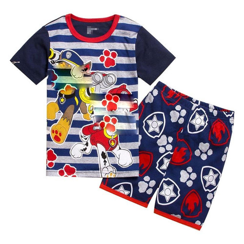 baby boys clothes sets new children clothing sets boys summer kids clothing cartoon dog short sleeve cotton boy clothing suits - Joelinks store