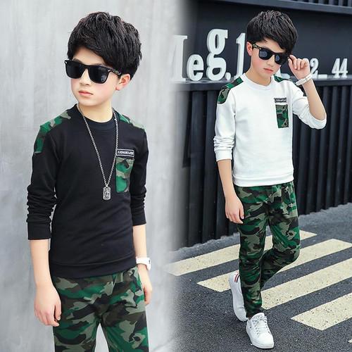 Boy Tracksuit Clothes set Kids Spring&Autumn Cotton School Uniform Sport camouflage Suit Boys Clothing Sets 4 6 8 10 12 14 year - Joelinks store
