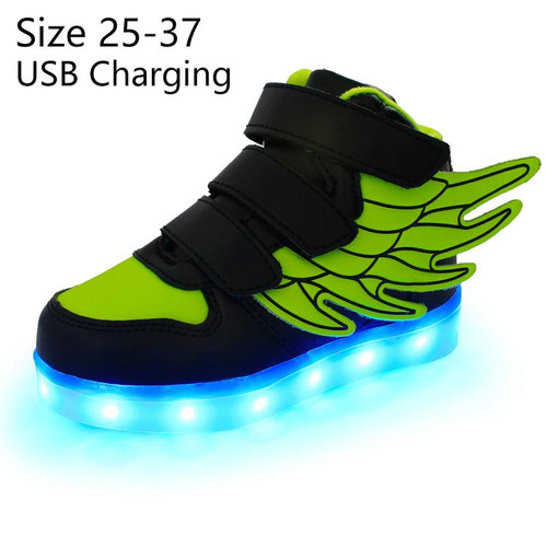 KRIATIV kids light up shoes with wing led slippers Led shoes infant for children boy&girl luminous sneakers Glowing - Joelinks store
