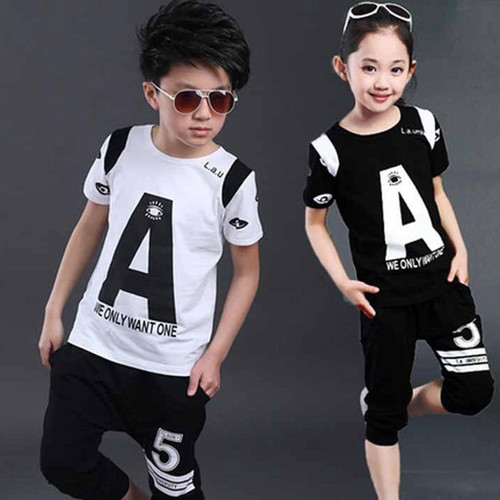 Kids Summer Clothes Children Cotton T-Shirt Short Sets Boys Girls Summer Sets Children Cool Clothing Kids Clothes Sets - Joelinks store
