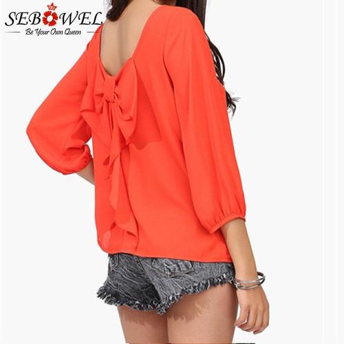 SEBOWEL 2019 Spring Autumn Female Blouse Plus Size 5xl 6XL Behind Tassel Bow Chiffon Long Sleeve Shirt Women's Ladies Sweet Tops - Joelinks store