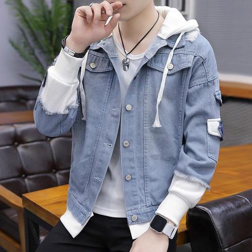 Unisex Denim Jacket Men Hooded sportswear Outdoors Fashion Hip-Hop Jeans Jackets Hoodies Loose Cowboy Mens Jacket and Coat S-3XL - Joelinks store