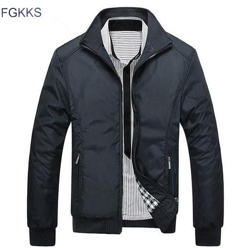 FGKKS New Spring Fashion Jacket Men Loose Casual Mens Jacket Sportswear Bomber Jacket Mens jackets And Coats - Joelinks store