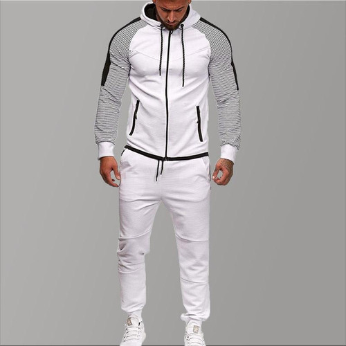 Brand Tracksuit for Men Two Piece White Men Tracksuits Hoodies 2019 Men's Clothing Sport Tracksuit Men Set Men's Clothing Autumn - Joelinks store