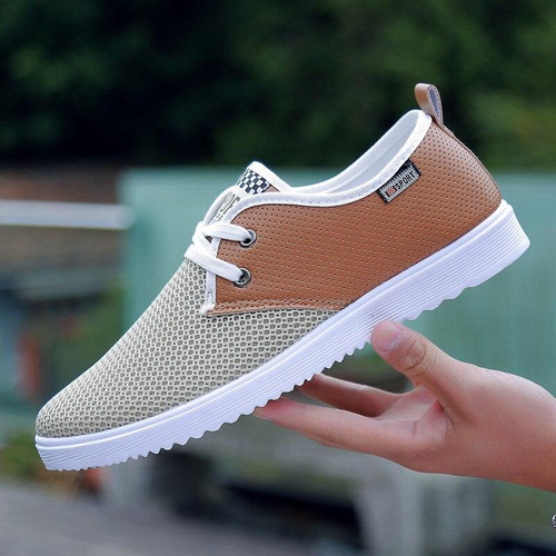 AKEXIYA2019 Fashion New Men's Knit Mesh Shoes Men's Spring and Autumn Best-selling Men's Breathable Casual Shoes Flat Net Shoes - Joelinks store