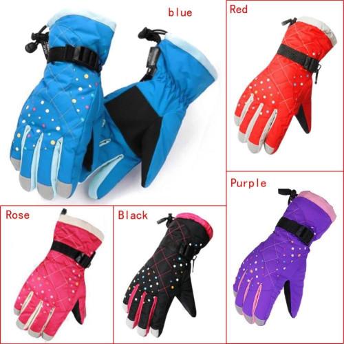 Winter Waterproof windproof Gloves Snow Gloves Ski Warm Full Finger Ski Gloves For Outdoor Motorcycle Cycling Kids Women - Joelinks store