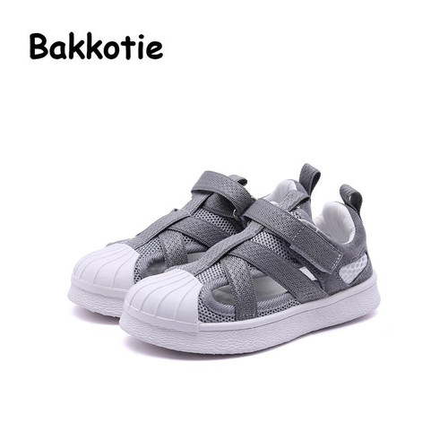 Bakkotie 2018 New Spring Summer Children Fashion Breathable Soft Shoe Baby Girl Mesh Trainer Boy Black Casual Sport Sneaker Kid - Joelinks store
