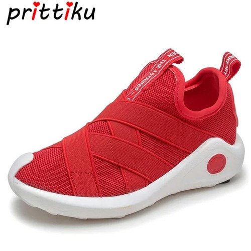 Spring 2018 Toddler Girl Boy Knit Mesh Breathable Sneakers Little Kid Red Black Trainers Big Children Sport School Running Shoes - Joelinks store