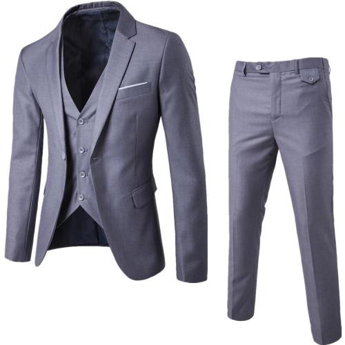3Pcs/Set Luxury Plus Size Men Suit Set Formal Blazer+Vest+Pants Suits Sets Asian Size For Men's Wedding Office Business Suit Set - Joelinks store