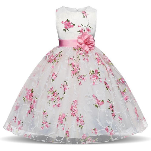 Summer Tutu Dress For Girls Dresses Kids Clothes Wedding Events Flower Girl Dress Birthday Party Costumes Children Clothing 8T - Joelinks store