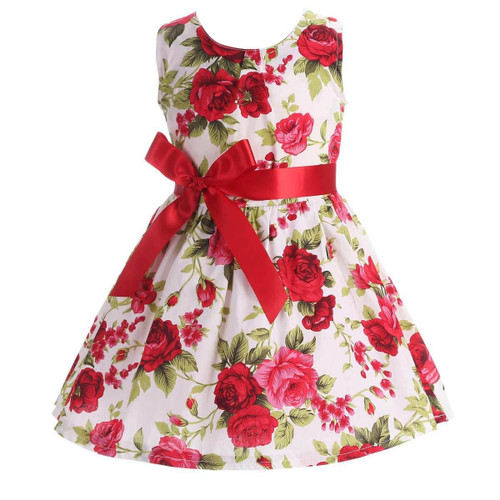 Floral Children Baby Dresses Girl Wedding Party;Princess 1 Year Birthday Girls Dress Cotton Summer 2017 Teenage Vestido Infantil - Joelinks store