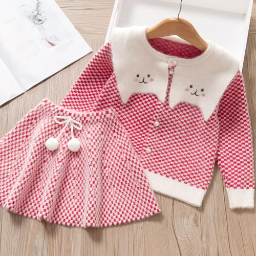 Mayfair Cabin Girls Dress New Winter Girls Dress Princess Dress Long Sleeve Girl Dresses Plaid Cute Dress Children Kid Clothing - Joelinks store