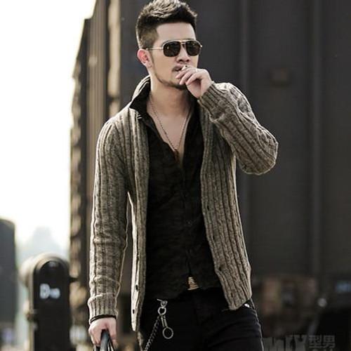 Men's sweater cardigan long sleeve cardigan sweater jacket J281-2 - Joelinks store