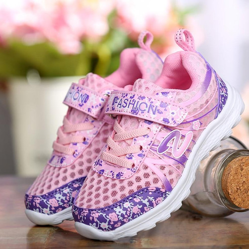 Pink White Kids Sneakers Breathable Light-weight Casual Mesh Shoe Chaussure Enfant Trainers Boys Girls Sport Shoes Spring Summer - Joelinks store