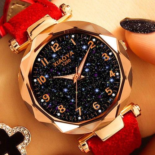 Fashion Women Watches 2019 Best Sell Star Sky Dial Clock Luxury Rose Gold Women's Bracelet Quartz Wrist Watches New Dropshipping - Joelinks store