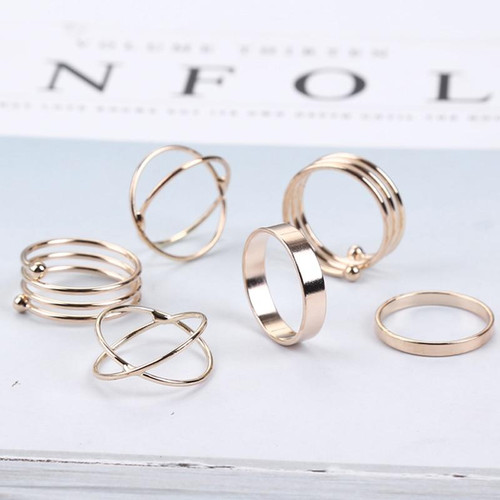 Unique Ring Set Punk Knuckle Stackable Rings for women Finger Ring 6 PCS Ring Set Best Selling Bijoux Wholesale - Joelinks store