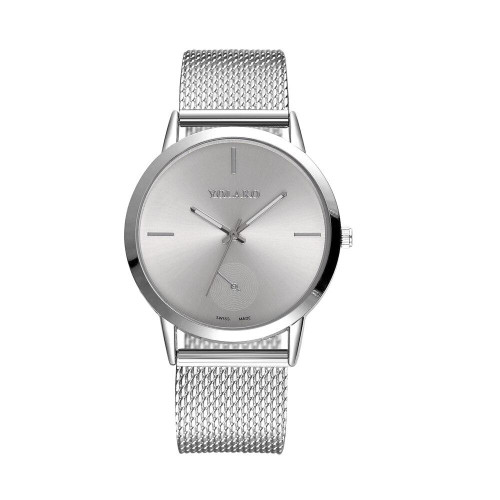 Best Sell Fashionable High Hardness Glass Mirror Men And Women General Mesh Belt Watch Female Woman Dress Watch Party Decoration - Joelinks store