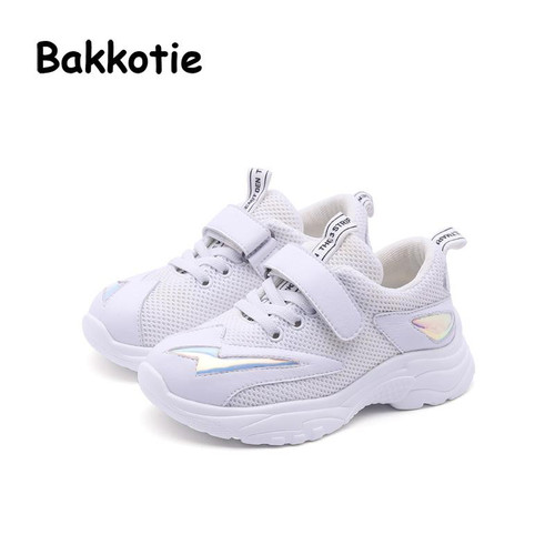Bakkotie 2018 Autumn Children Casual Sneakers Baby Boy Mesh Pu Leather Shoes Kid Sport Shoes Girl Brand White Shoes Trainer - Joelinks store