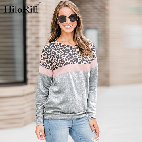 2020 Fashion Women Casual Long Sleeve Autumn T-shirt Leopard T shirt Spring Top Tees Femme Ladies Tshirt Clothes Plus Size S-XL - Joelinks store
