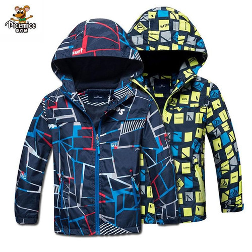 Children Outerwear Warm Polar Fleece Coat Hooded Kids Clothes Waterproof Windproof Baby Boys Jackets For 3-12Y Autumn Spring - Joelinks store
