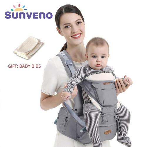 SUNVENO Ergonomic Baby Carrier Infant Baby Hipseat Waist Carrier Front Facing Ergonomic Kangaroo Sling for Baby Travel 0-36M - Joelinks store