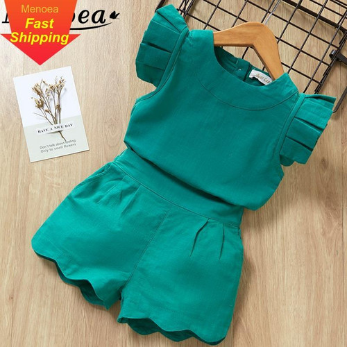 Kids Girls Clothing Sets Summer New Style Brand  Baby Girls Clothes short Sleeve T-Shirt+Pant Dress 2Pcs Children Clothes Suits - Joelinks store