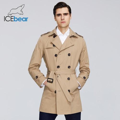 ICEbear 2020 New men's trench coat cot for men high-quality men's long lapel windbreakers men's brand clothing MWF20709D