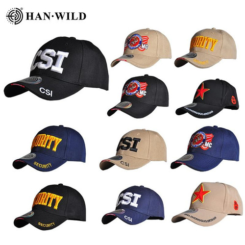 HAN WILD Mens NAVY Baseball Cap Navy Seals Cap Tactical Army Cap SWAT Trucker Gorras Snapback Hat For Adult Adjustable