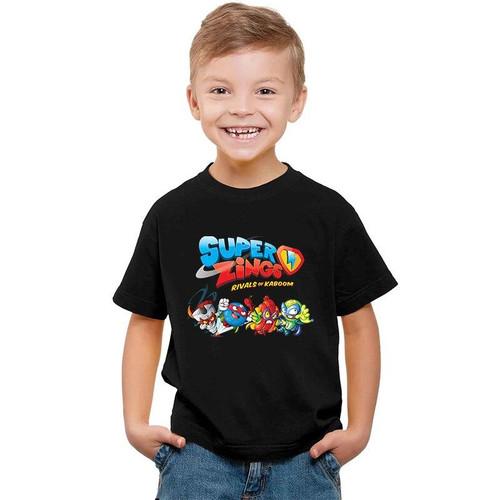 2020 Baby Boys Tshirt Los Super Zings Series 4 Print Piano Superzings Kids T-Shirts Children Summer Cotton Girls Tops Clothing