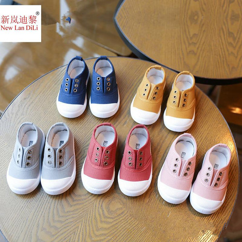 HH Children Shoes canvas sneakers  spring kids fashion girls shoes toddler boy canvas shoes Size 21-36 cheap kids trainers - Joelinks store