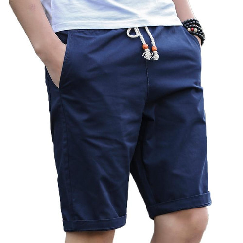 New Casual Beach Shorts Quality Bottoms Elastic Waist Brand For Men