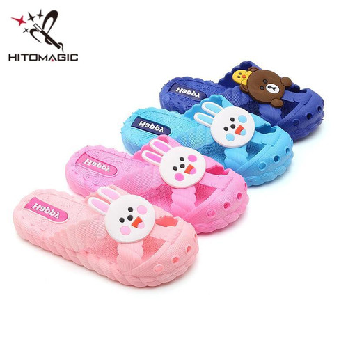 HITOMAGIC Girls Slippers Baby Boys Kids Children Slippers Child Boy Shoes For Girl Indoor Summer 2018 Cartoon Breathable Pink - Joelinks store