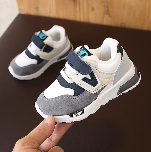 Autumn Winter Kids Shoes Baby Boys Girls Children's Casual Warm Sneakers Breathable Soft Running Sports Shoes Size 21-30