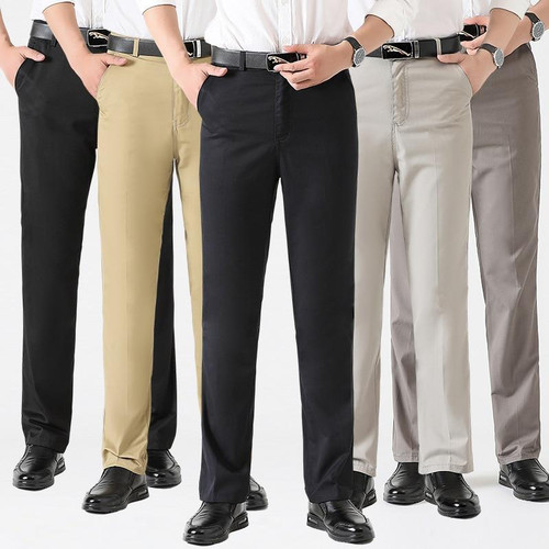 Astfsc 2020 New Fashion Casualwear Lightweight Pants High Waist Straight High Quality Cotton Thin Men Trousers For Men