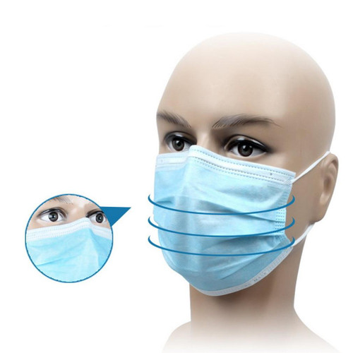 50 Pcs Disposable Dustproof Surgical Face Mouth Masks Anti PM2.5Anti Influenza Breathing Safety Masks Face CareElastic