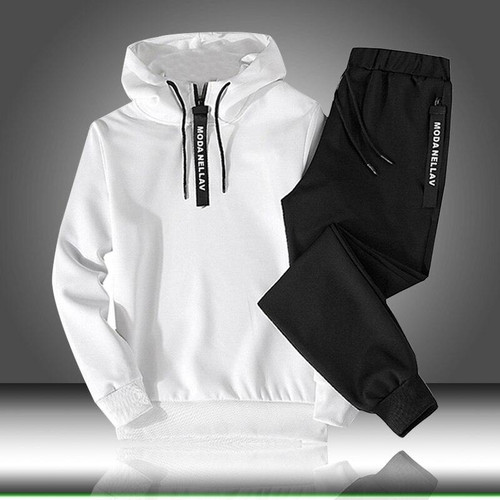 Sets Tracksuit Men Autumn Winter Hooded Sweatshirt Drawstring Outfit Sportswear 2019 Male Suit Pullover Two Piece Set Casual