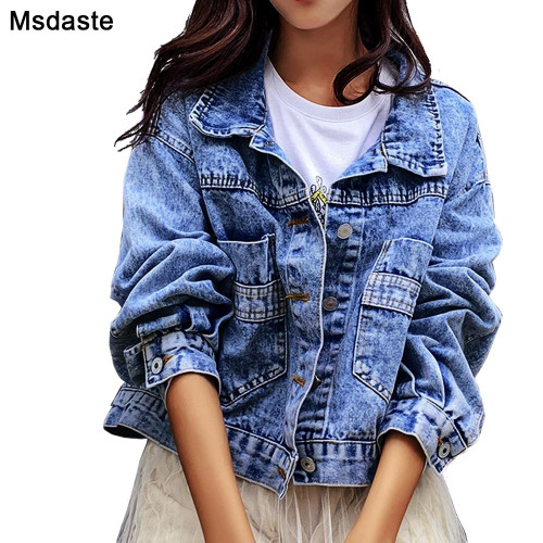 Jeans Jackets Coats Women 2020 Short Casual Denim Coat New Autumn Long Sleeve Jaqueta Feminina Chaquetas Mujer Jeans Jacket