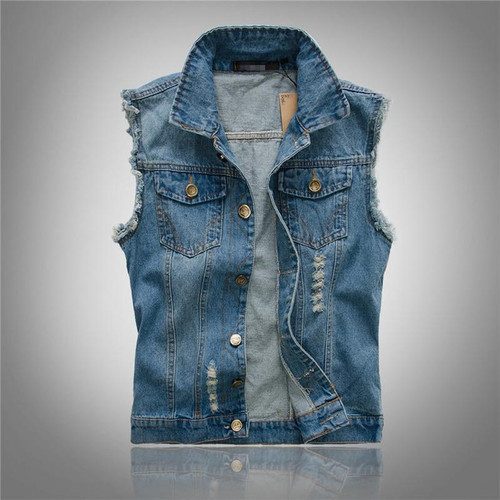 New 2020 Mens Sleeveless Jeans Jacket Men Oversize 6XL Blue Black Denim Jeans Vest Men Cowboy Denim Vest Mens Jeans Waistcoat