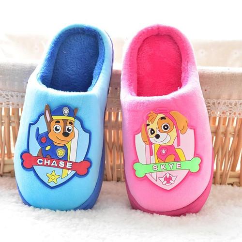 Police Dog Slippers Baby Children Slippers Kids Winter Warm Child Flip Flops Animal Cotton Home Shoes Boys Girls Cotton Slipper - Joelinks store