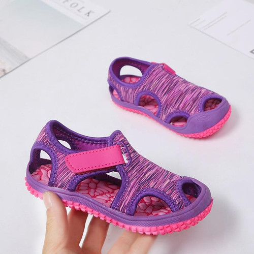 MHYONS 2020 Children's sandals boys beach shoes solid bottom soft wear non-slip girls baby toddler shoes kids barefoot shoes