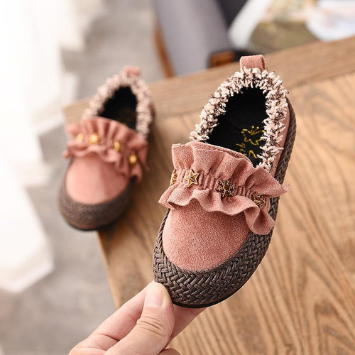 Fashion Cute Baby Girls Flat Shoes Toddler Kids Loafers Girls Casual Star Sneakers Princess Baby Girls Shoes