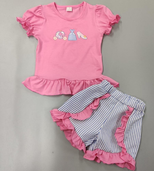 Baby Girl Suit Clothes Newborn Infant Sets Baby Girls Clothes Outfit Pink Summer Spring Toddler set Children Outfits