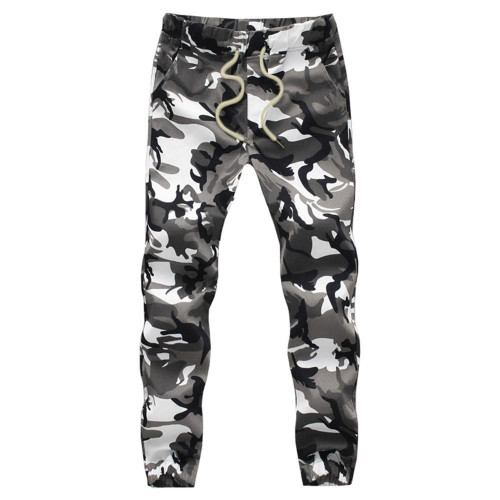 Cotton Mens Jogger Autumn Pencil Harem Pants 2020 Men Camouflage Military Pants Loose Comfortable Cargo Trousers Camo Jogger