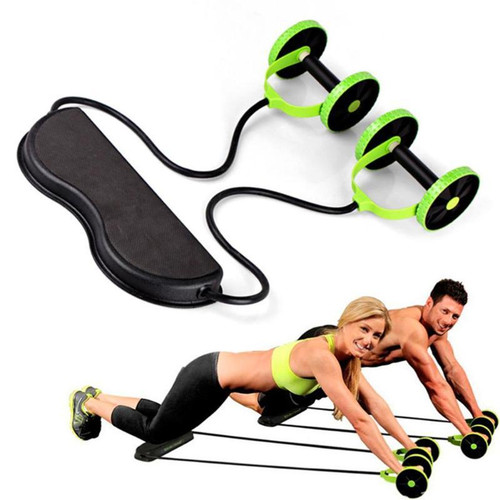 Muscle Exercise Equipment Home Fitness Equipment Double Wheel Abdominal Power Wheel Ab Roller Gym Roller Trainer Training