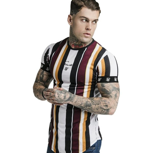 2020 New Mens Summer Sporting Running T-Shirt Fitness Bodybuilding Shirts Men Short Sleeves Slim Cotton Tees Gyms Clothes