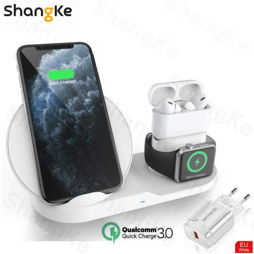 Wireless Charger Stand for iPhone AirPods Apple Watch,   Series 5/4/3/2 iPhone 11 X XS