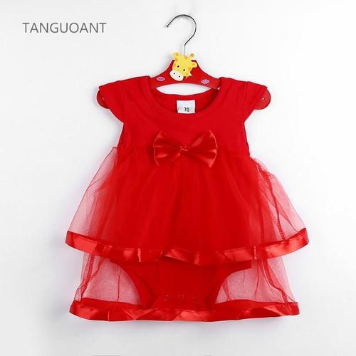TANGUOANT Hot Sale NewBorn Baby Dress Summer Cotton