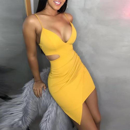 JAYCOSIN 2020 Hot Sale Summer Women Dresses Sexy Solid Sleeveless