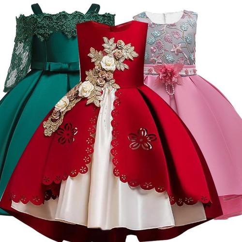 Girls Dress Kids Dresses For Girls Elegant Princess Dress For Girl Wedding Evening Party