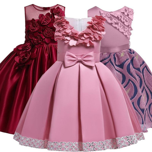 2020 Girls Dress Elegant Princess Dress Kids Dresses For Girls Costume
